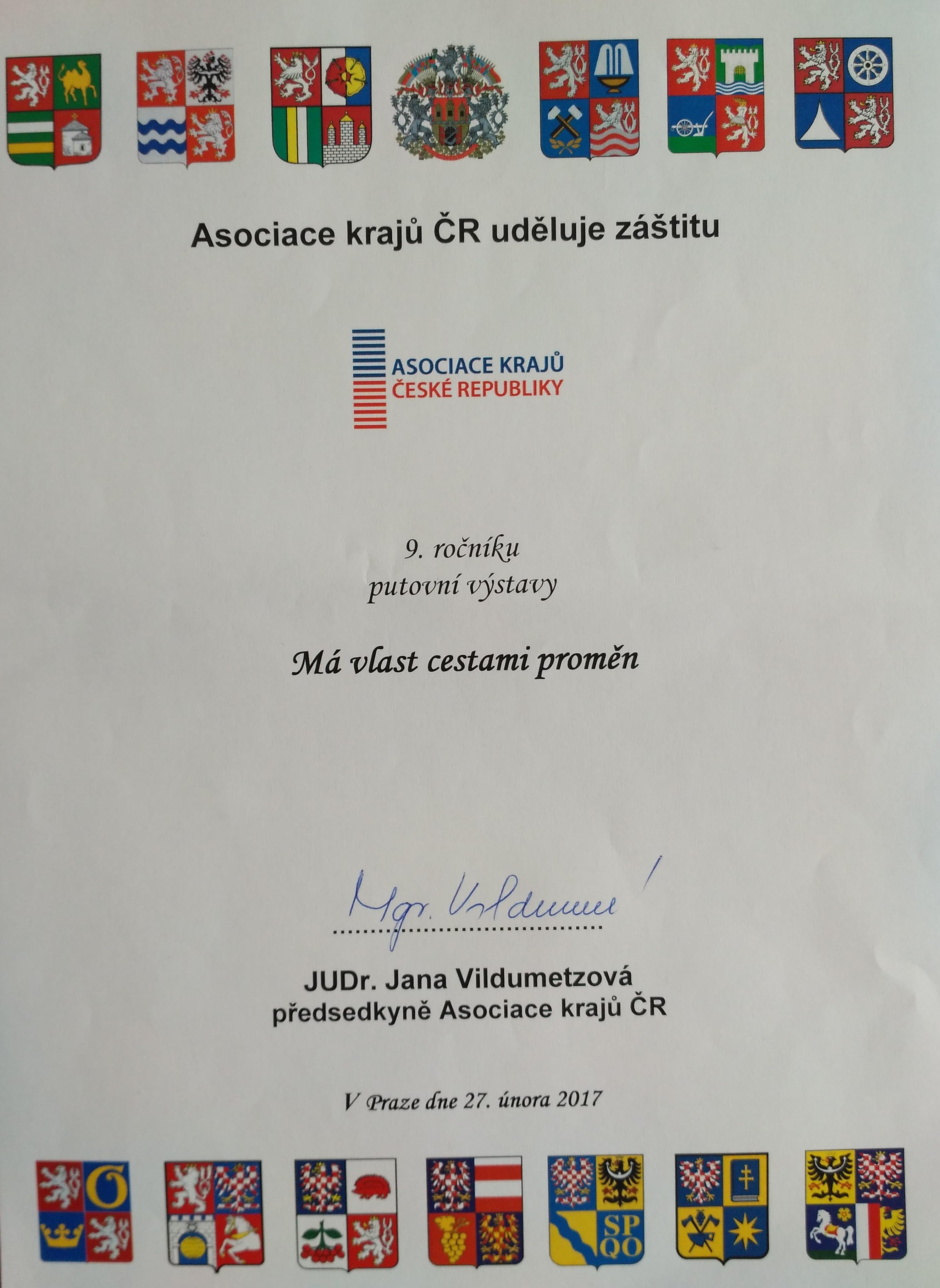 2017 AK záštita Má vlast cestami proměn