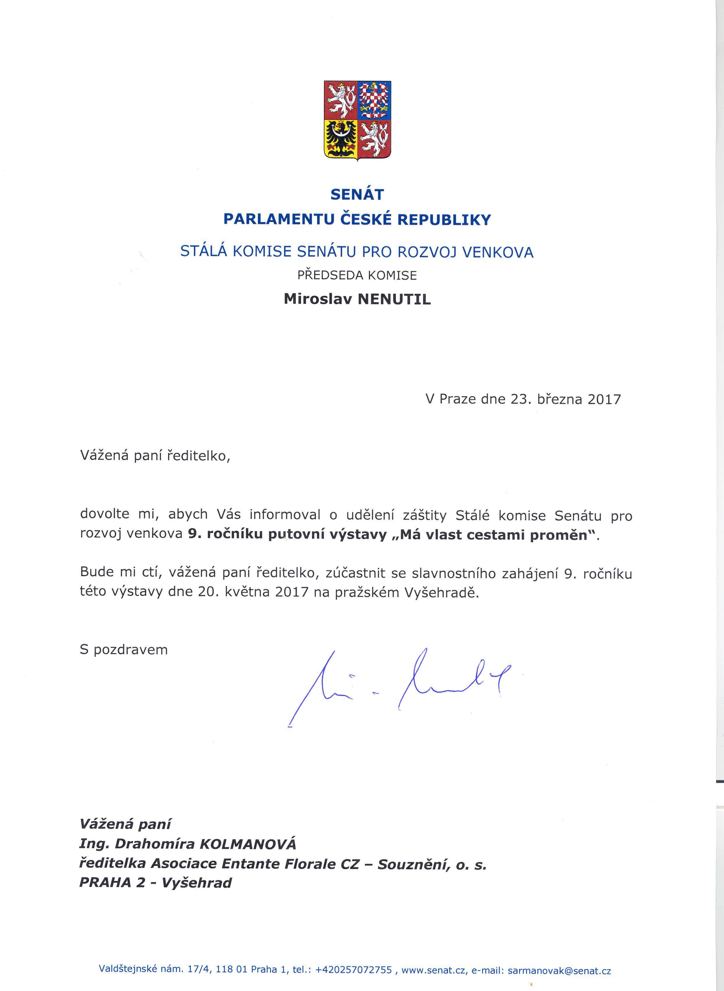 záštita Má vlast 2017